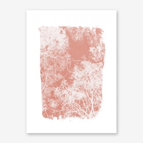 Tree Foliage on Pink Art Print
