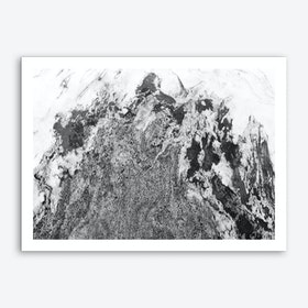 Black and White Marble Mountain I Art Print