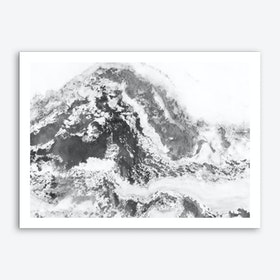 Black and White Marble Mountain II Art Print