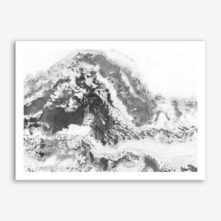 Black and White Marble Mountain II Art Print
