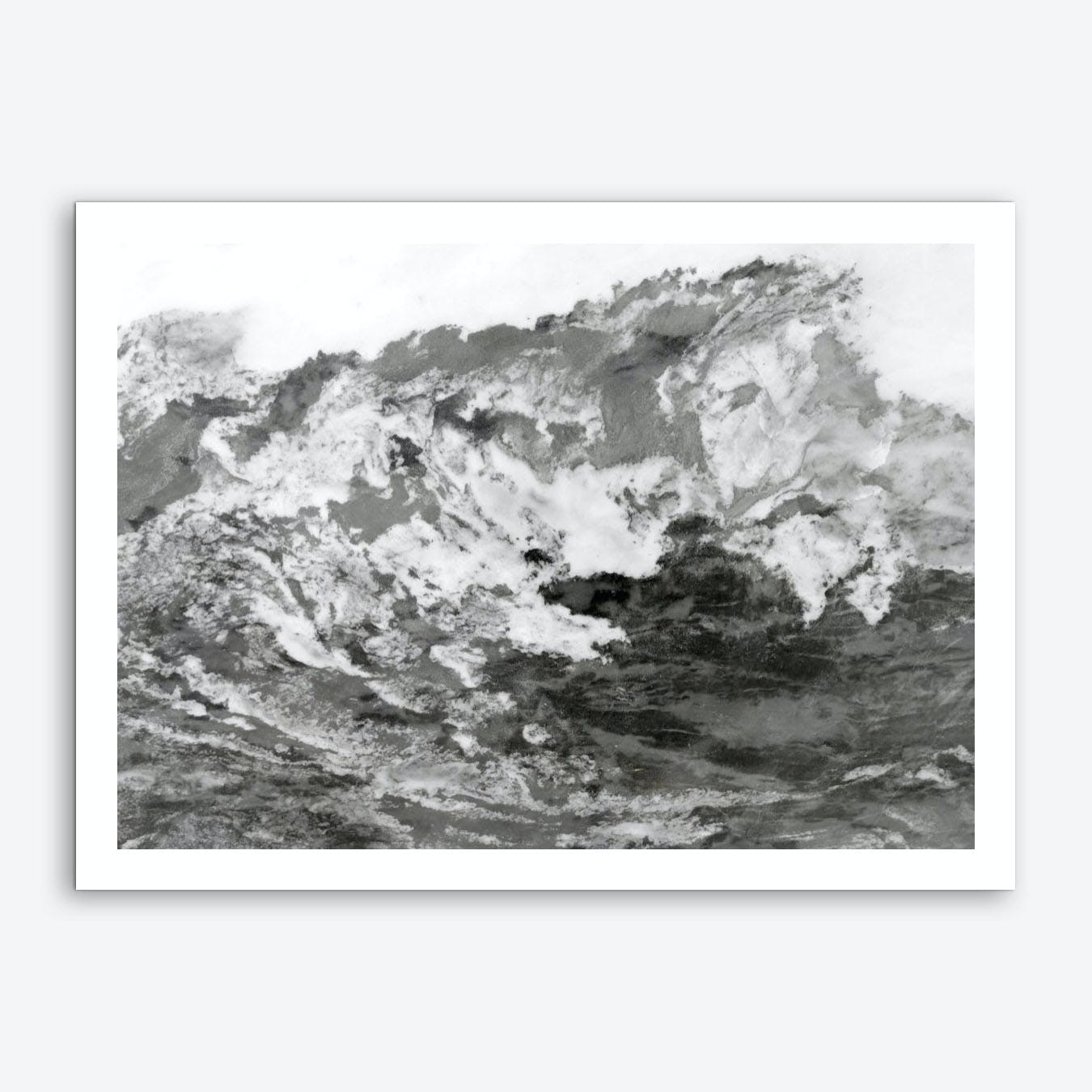 Black and White Marble Mountain III Art Print