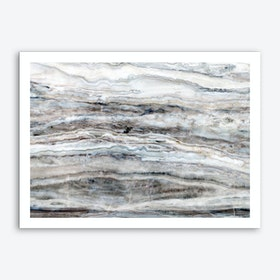 Blue and White Marble Landscape I Art Print