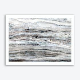 Blue and White Marble Landscape I Art Print