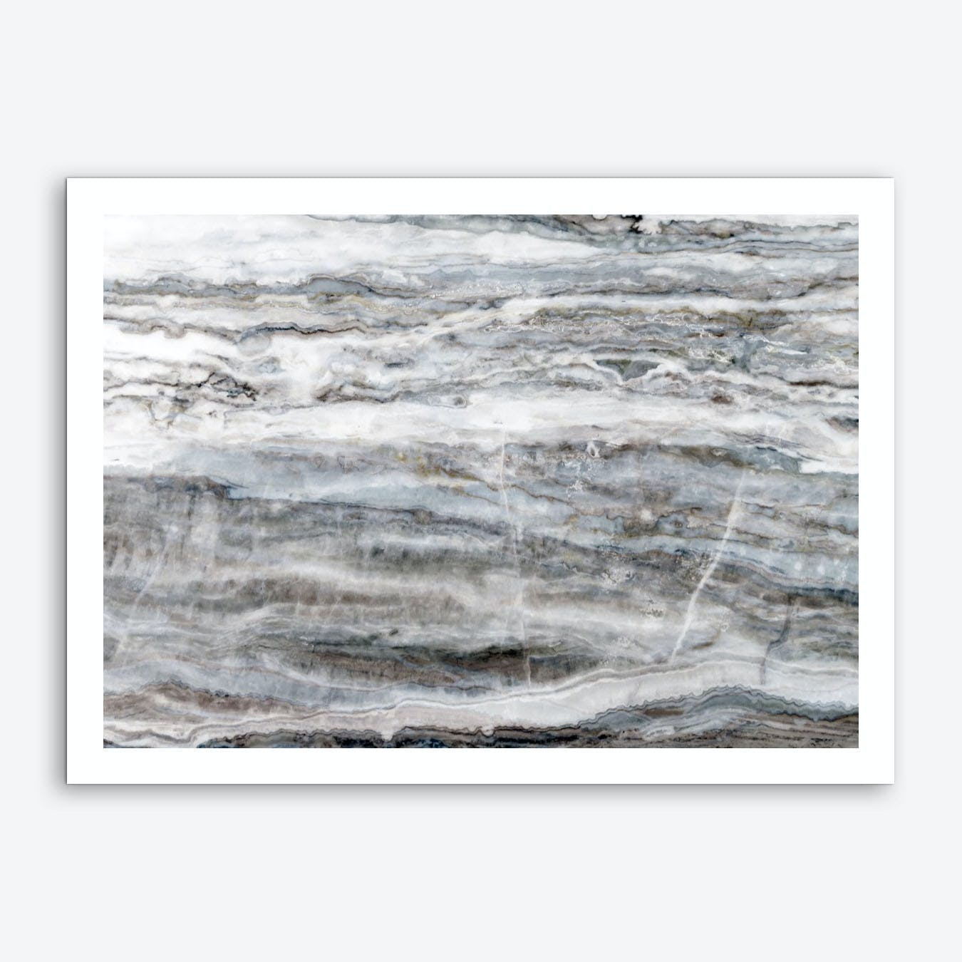 Blue and White Marble Landscape II Art Print