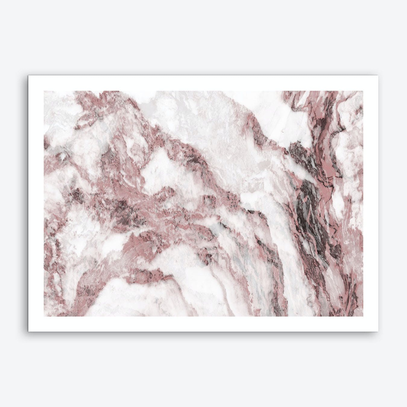 Pink and White Marble Mountain I Art Print