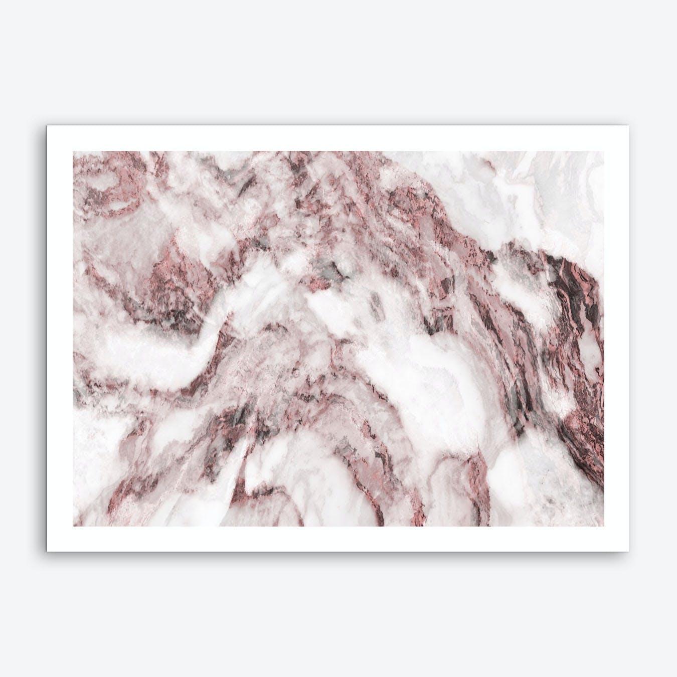 Pink and White Marble Mountain II Art Print