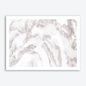 White Marble Mountain I Art Print