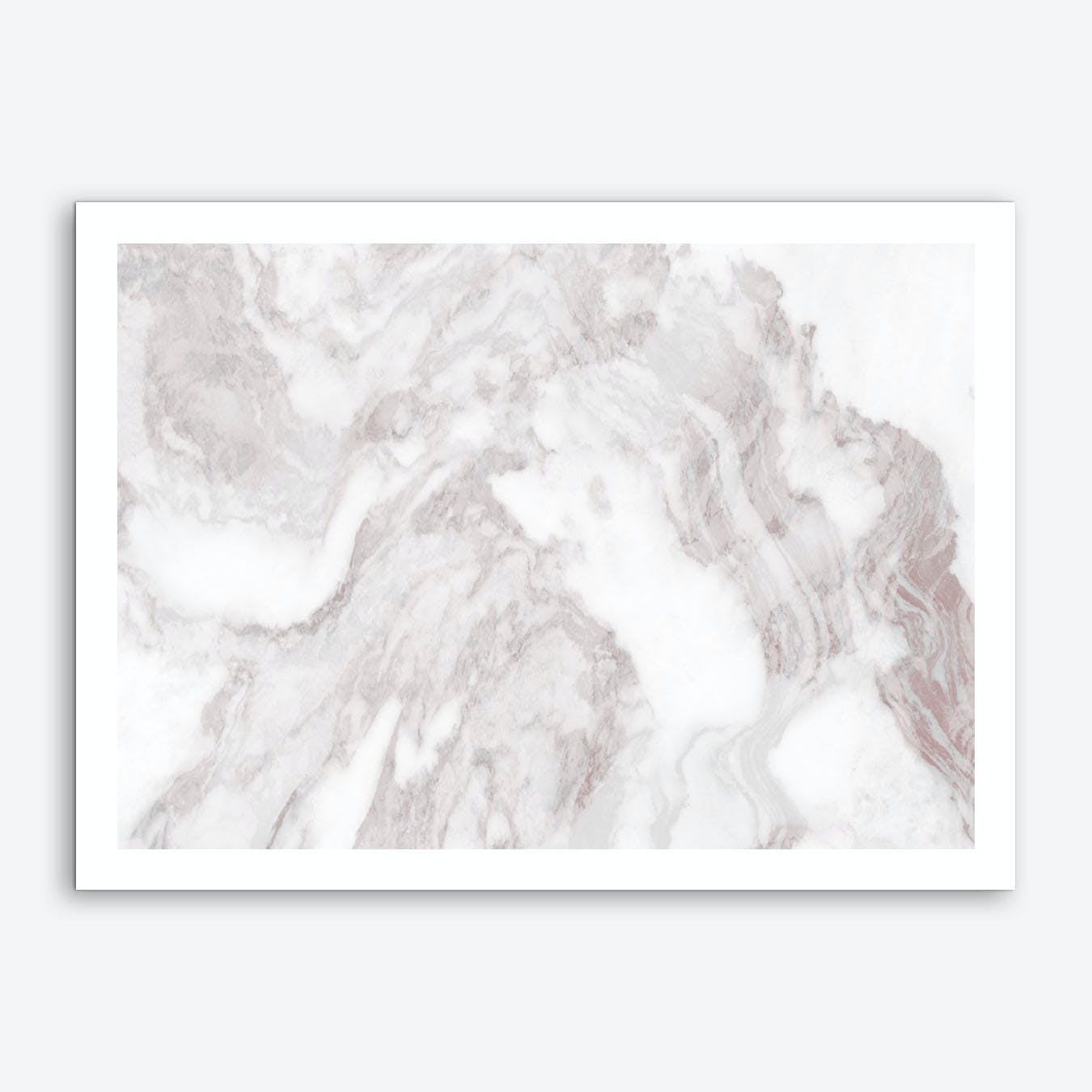 White Marble Mountain II Art Print