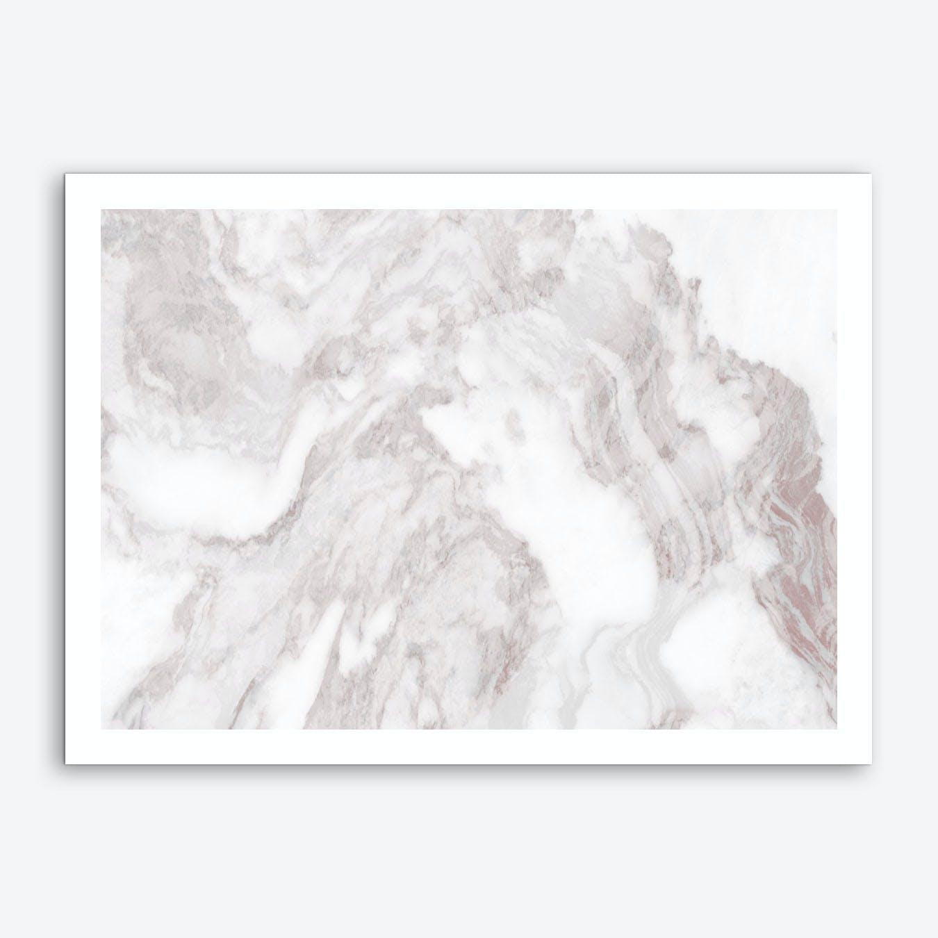 White Marble Mountain II Art Print