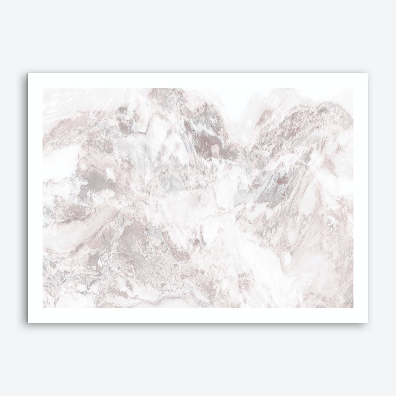 White Marble Mountain III Art Print