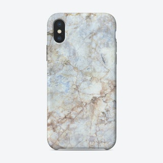 Gold and Blue Marble iPhone Case