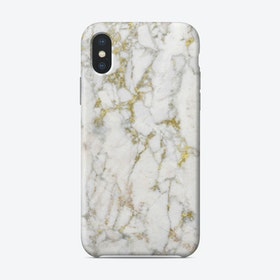 Gold and White Marble iPhone Case