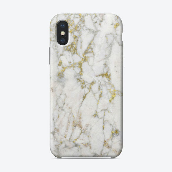 Gold and White Marble iPhone Case by Amini54 - Fy e2db9fe57