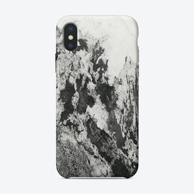 Black and White Marble Mountain I iPhone Case