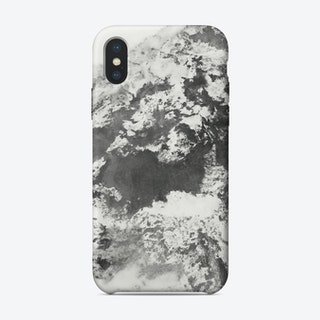 Black and White Marble Mountain II iPhone Case