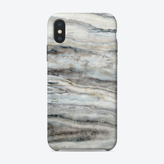 Blue and White Marble Landscape I iPhone Case