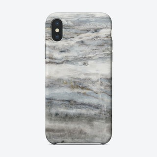 Blue and White Marble Landscape II iPhone Case