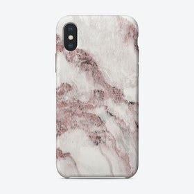 Pink and White Marble Mountain I iPhone Case