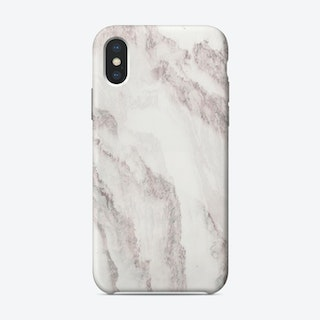 White Marble Mountain I iPhone Case