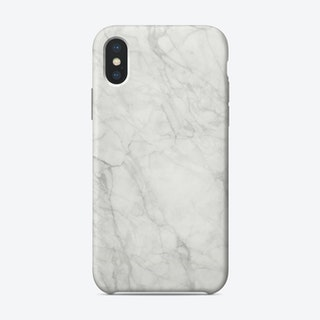 White Marble IX iPhone Case