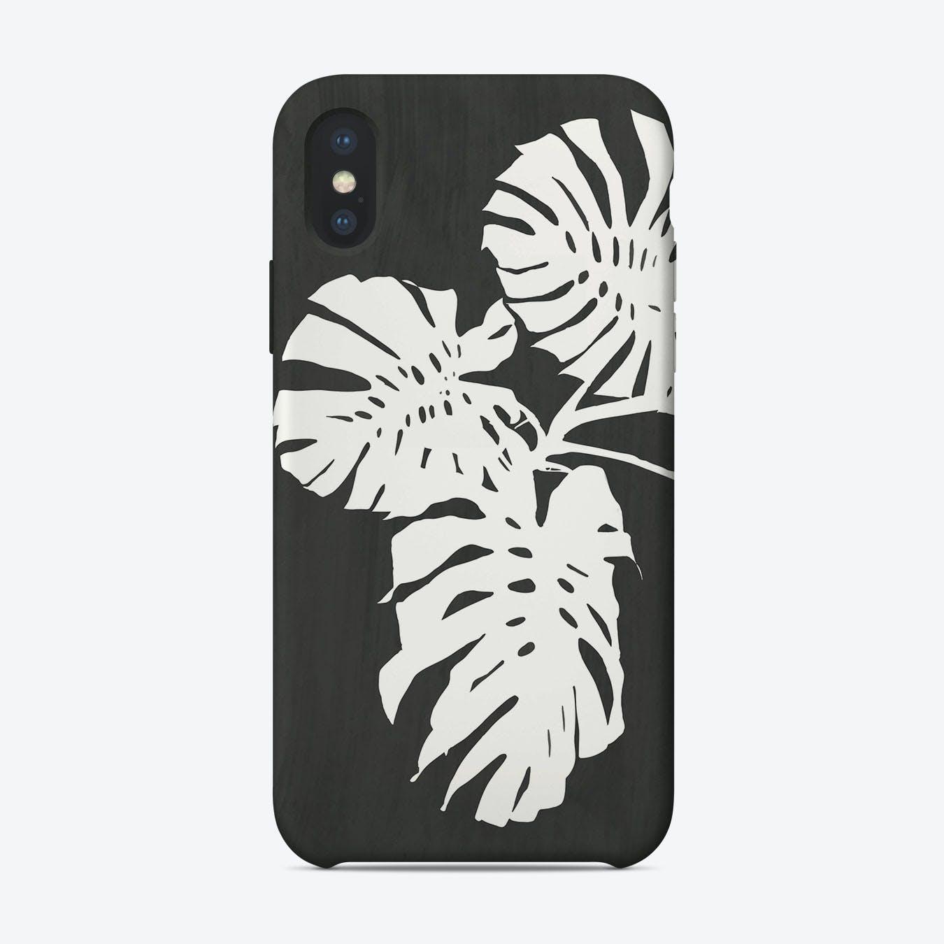 Monstera on Black iPhone Case