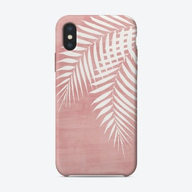 Palm Leaves on Pink iPhone Case