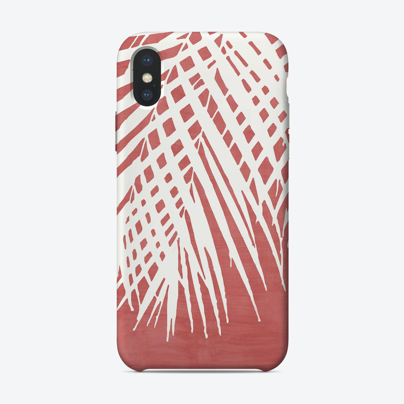 Palm Leaves on Red iPhone Case