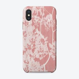 Tree Foliage on Pink II iPhone Case