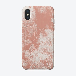 Tree Foliage on Pink iPhone Case