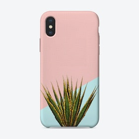 Agave Plant on Pink and Teal Wall iPhone Case
