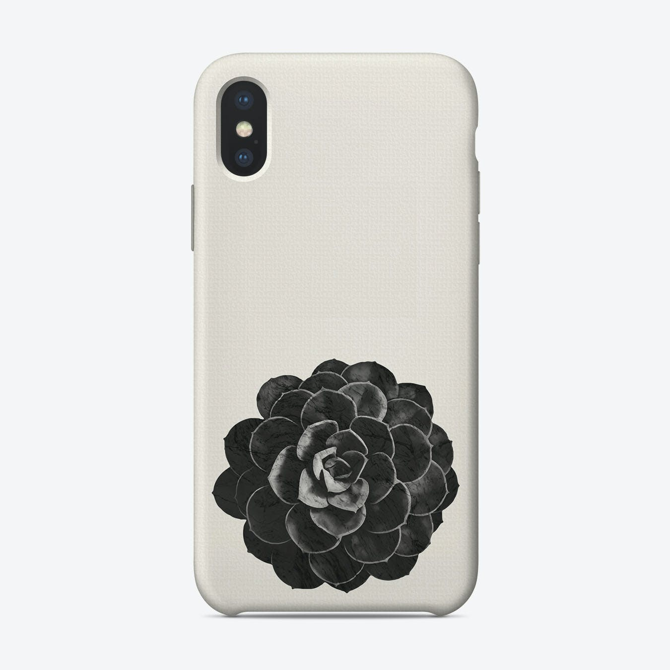 Succulent Black Marble iPhone Case