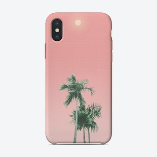 Palm Trees, Sun and Sky iPhone Case
