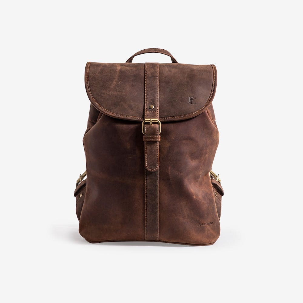 Lincoln Backpack in Brown Leather