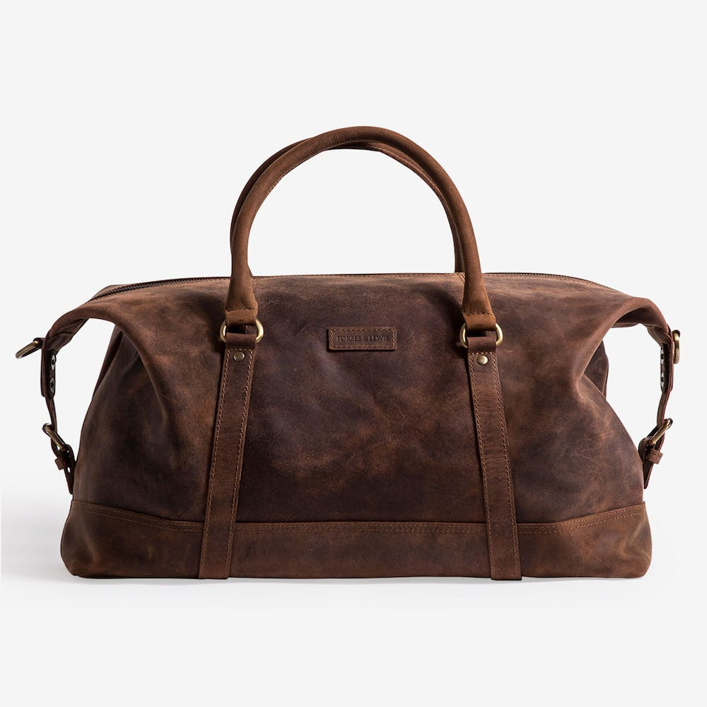 Somerset Holdall in Brown Leather