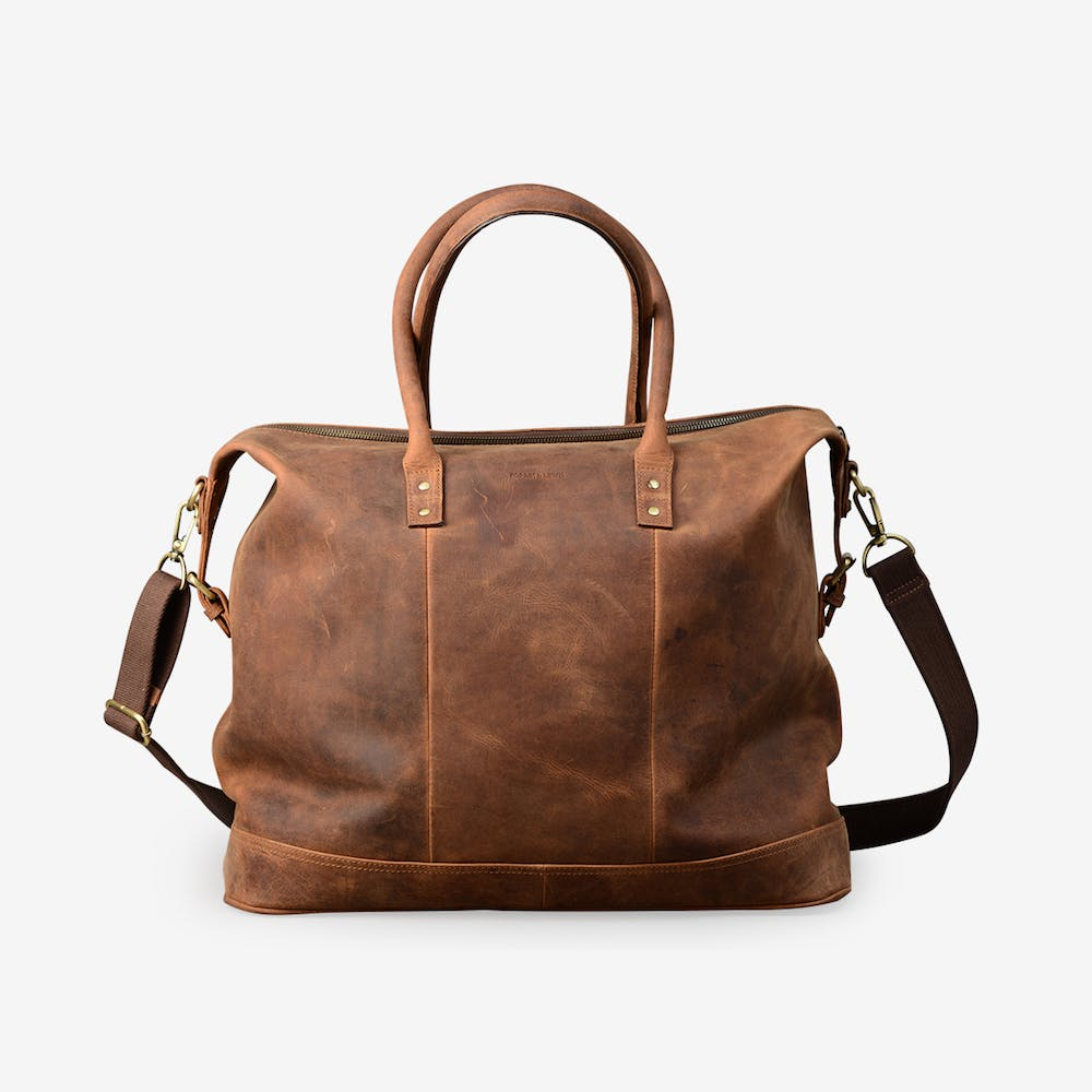 Oxford Holdall in Brown Leather