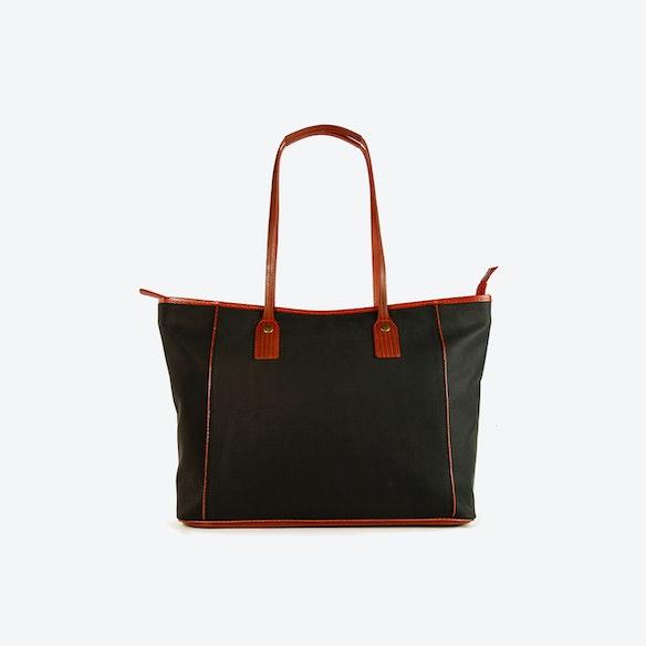 c4b915308e17 Tote Bag in Black Printing Blanket by Elvis   Kresse - Fy