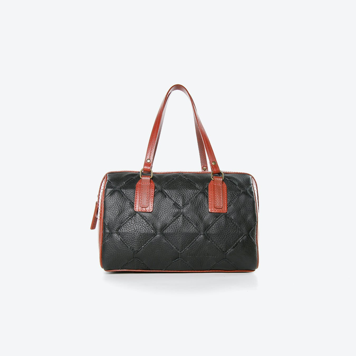 Post Bag Fire Hide in Black Burberry Leather And Red Fire-Hoses