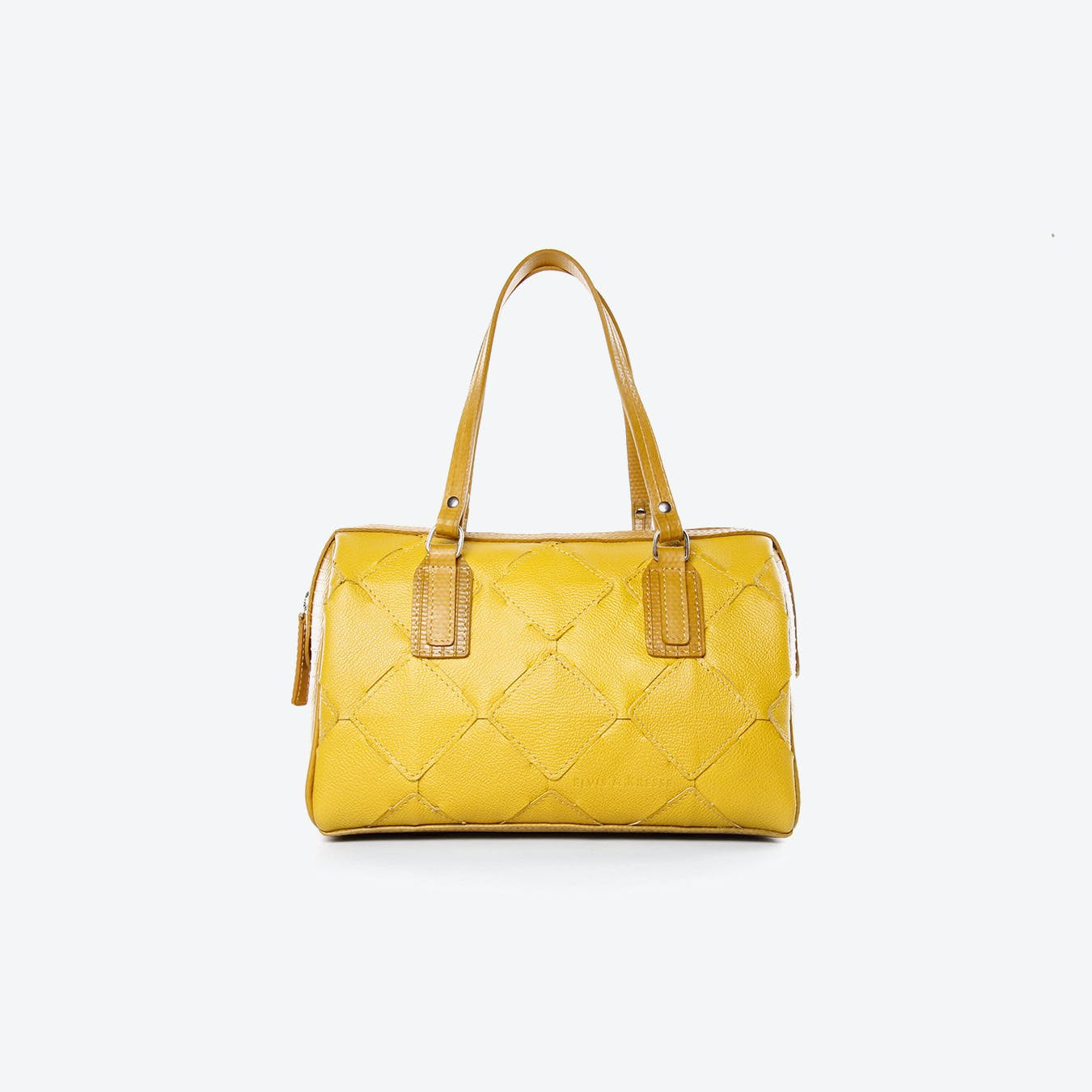 Post Bag Fire Hide in Yellow Burberry Leather
