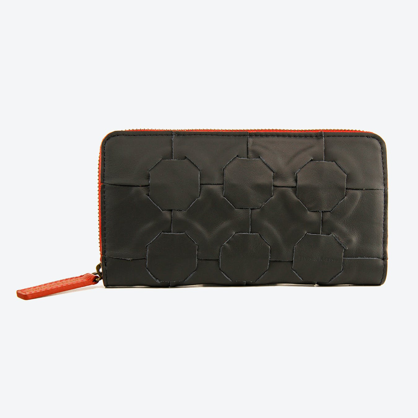Fire & Hide Purse in Black Burberry Leather