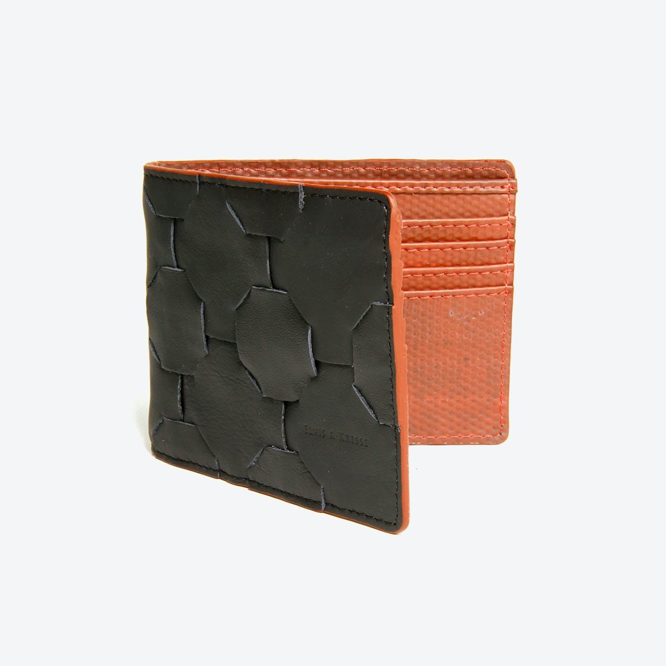 Fire & Hide Wallet in Black Burberry Leather