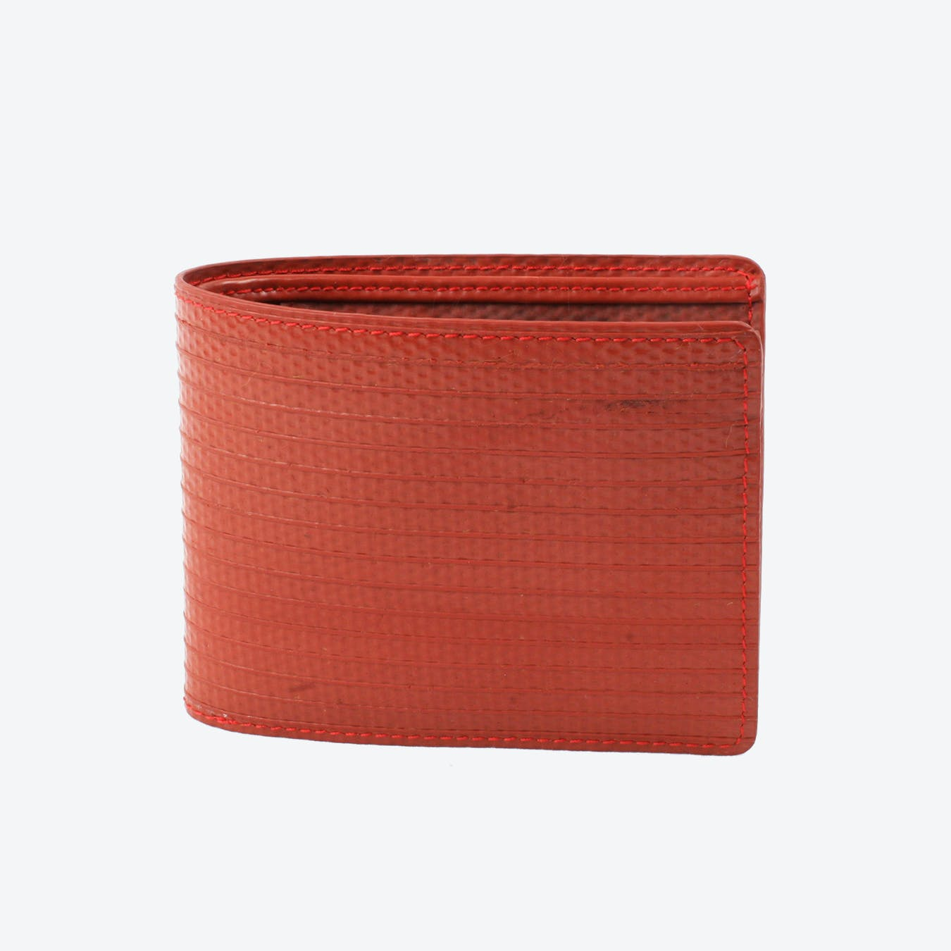 Billfold Wallet in Red Fire-Hoses (w/o Coin Pocket)