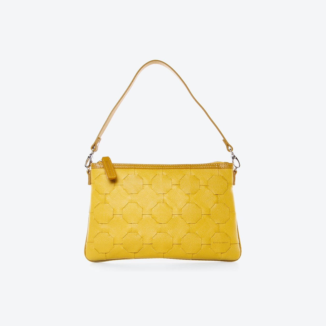Fire & Hide Clutch Bag in Yellow Burberry Leather
