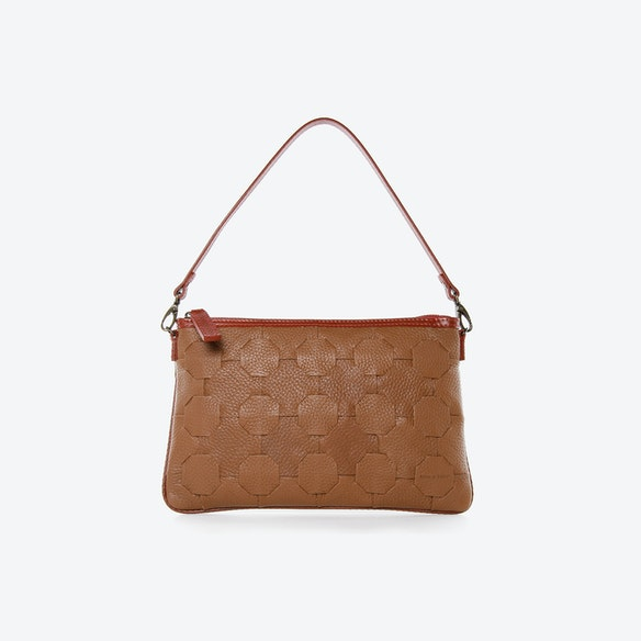 cf2b8add613a Fire   Hide Clutch Bag in Chestnut Burberry Leather by Elvis   Kresse