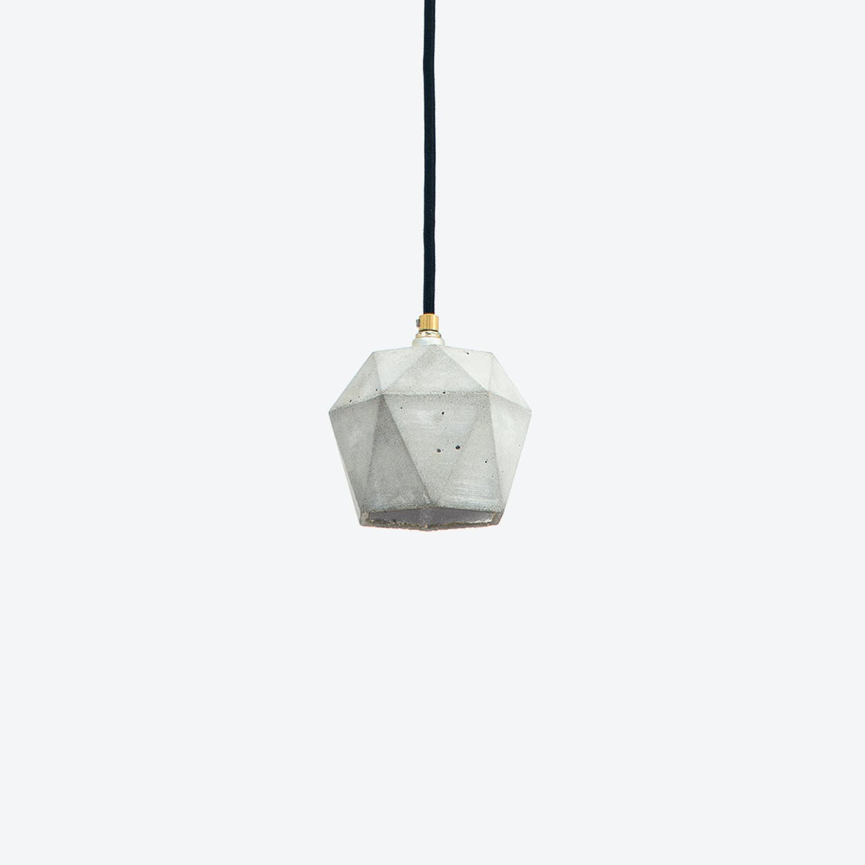 Concrete Pendant Light Triangle Small T2 in Light Grey and Silver