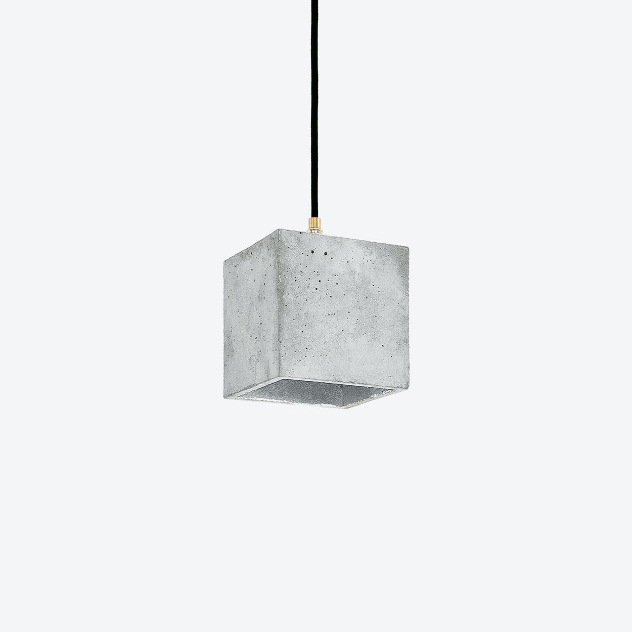 Concrete Pendant Light Cubic B1 in Light Grey and Silver