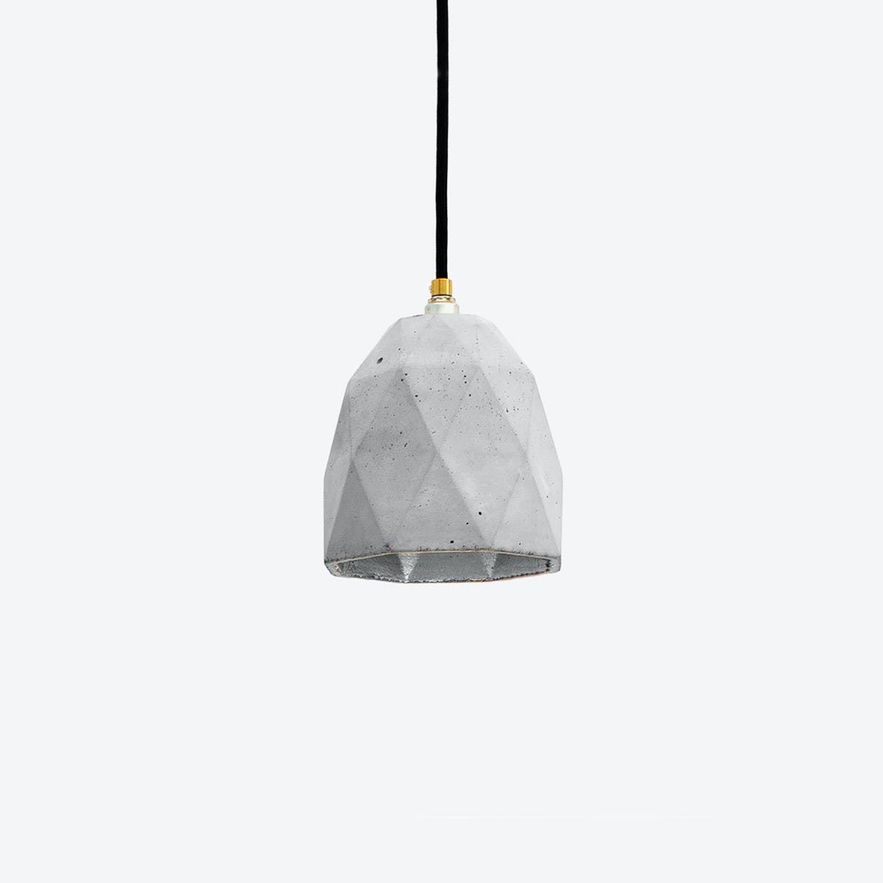 Concrete Pendant Light Triangle T1 in Light Grey and Silver