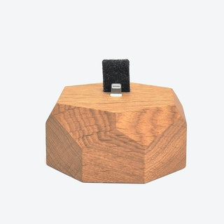 Oak iPhone Dock Polygonal