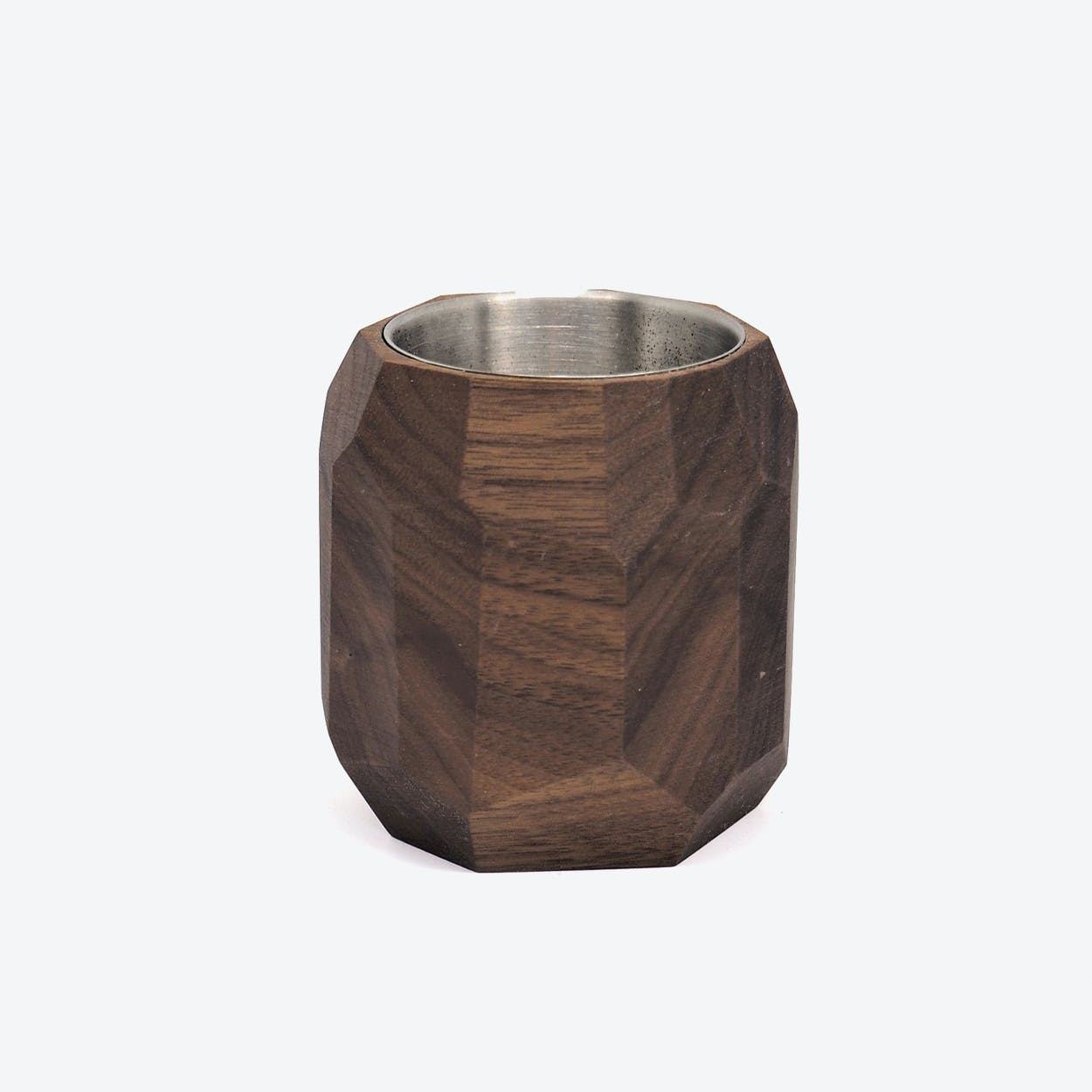 Walnut Geometric Planter