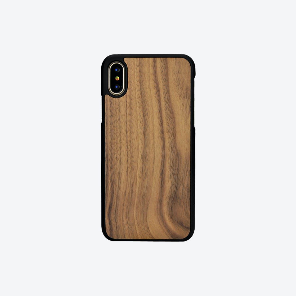 iPhone Bumper Case in Walnut