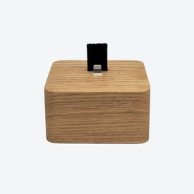 Oak iPhone Dock Square